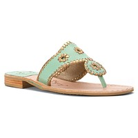Nantucket Gold Sandal in Mint and Gold by Jack Rogers - FINAL SALE
