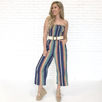Better Days Denim Stripe Jumpsuit