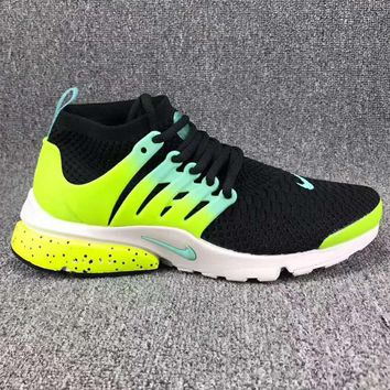 NIKE AIR PRESTO Men Fashion Running Sport Casual Shoes Sneakers Black Green  G-CSXY
