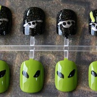 Japanese Nail Art- Take Me To Your Leader