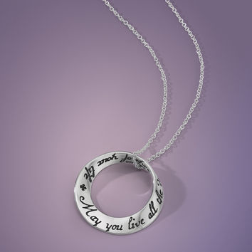 May You Live All The Days Sterling Silver