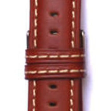 Toscana Heavy Pad Italian Oiled Watch Strap with Contrast Stitching