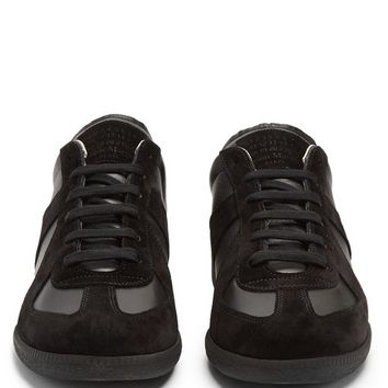 Replica contrast-panel low-top leather trainers | Maison Margiela | MATCHESFASHION.COM US