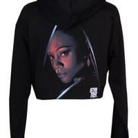 Uhura Star Trek Organic Cotton Cropped Hoodie Zip Jacket