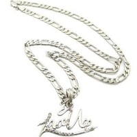 "NEW CELEBRITY FANS 'SWIFTIE' PENDANT &18"" LINK CHAIN FASHION NECKLACE - XC428RPK"