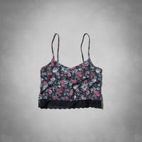 floral cropped cami