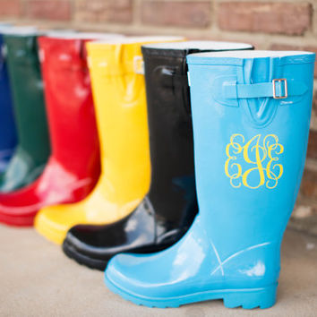 Personalized Monogrammed Rainboot