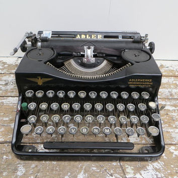 Vintage Typewriter Adlerwerke Typewriter Adler  Manual Typewriter Portable Typewriter