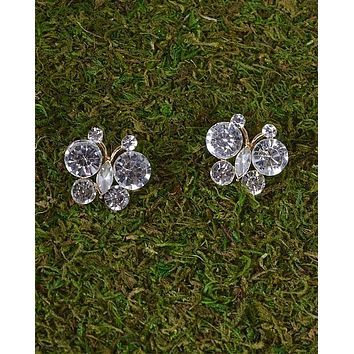 Crystal Studded Butterfly Earrings id.31495