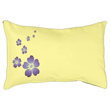 Purple Flowers Dog Bed