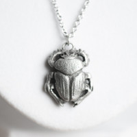 Le Sacred Scarab Totem Necklace