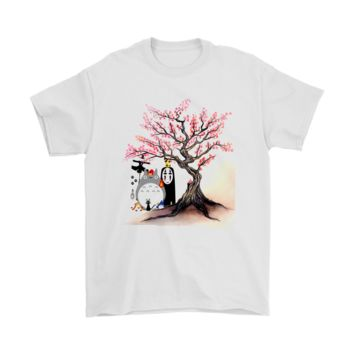 ESBV4S The Ghibli Family Under The Cherry Blossom Tree Shirts