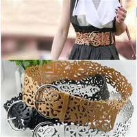 Hot Fashion 6 Colors Women's Lady Tie Belt Wide Hollow Buckle Waist band Waistband Waist Belt
