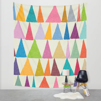 Analogous Shapes In Bloom. Wall Tapestry by Nick Nelson | Society6