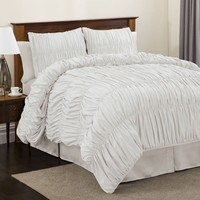Lush Decor Venetian 4-pc White Comforter Set King