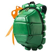 Men's Teenage Mutant Ninja Turtle Backpack with Colored Masks - Green