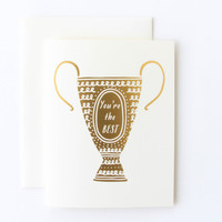 You're the Best Trophy Card