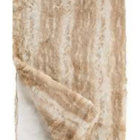 Blonde Mink Couture Faux Fur Throw Blanket by Fabulous Furs