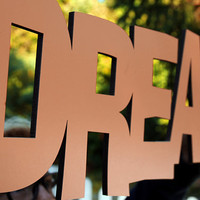 Dream - 8x20 Inspirational Wood Cut Out Sign
