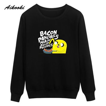 Adventure Time Cartoon Autumn Harajuku Sweatshirt Men Winter Warm Street Wear High Quality Hip Hop Hoodies Oversize Anime 3XL