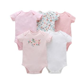 Free ship Baby hot Boys and Girls Clothing set Bodysuit set for baby Bebes Cotton Bodysuit Jumpsuit 5pcs Pack Baby set