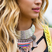 Boho Tribe Metal Necklace