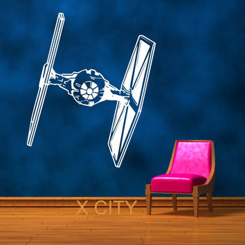 STAR WARS TIE FIGHTER Movie Vinyl Wall Art Room Sticker Decal Door Window Stencils Mural Decor S M L