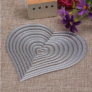 10pcs/set DIY puzzle carbon steel Cutting dies handmade knife Heart Shaped mold flower knife mold cutting circle template mould