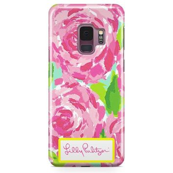 Lilly Pulitzer First Impression Rose Inspired Samsung Galaxy S9 Case | Casefantasy