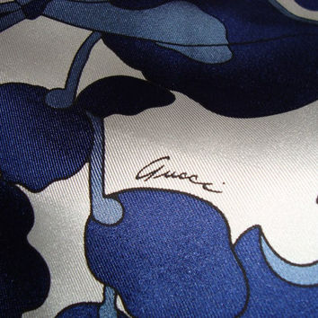 GUCCI fabric 100% Silk for dress,shirt or skirt, Made in Italy 150x142 cm