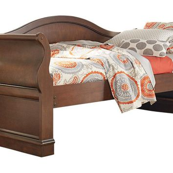 #2561 - Solid Wood Sleigh Twin Size Daybed WITHOUT Trundle