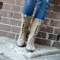 In A Nutshell Lace-Up Boot