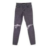 Knee Cut Vintage Denim Pants