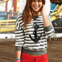 Anchor Striped Sweatshirt