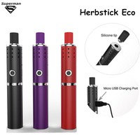 2015 New Arrival Herbstick Eco dry herb Vaporizer 2200mah Temperature Control Airflow Hole Mini Vape Pen Herbal e cigarette Kit