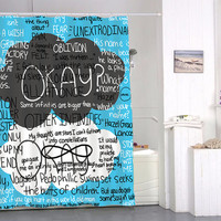 okay okay tfios quotes special custom shower curtains that will make your bathroom adorable