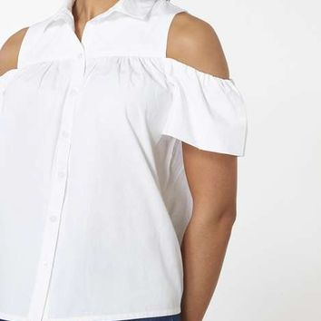 Ivory Cold Shoulder Shirt - View All New In - New In