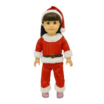 Doll Clothes Fits American Girl & Other 18 Inch Dolls Santa Costume Outfit