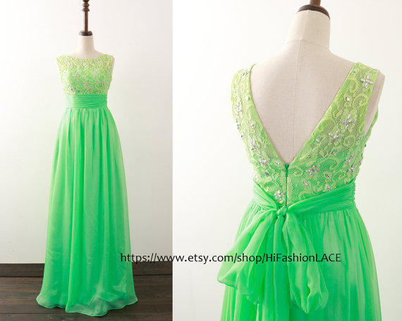 Best Green Prom Dresses Etsy Products on Wanelo