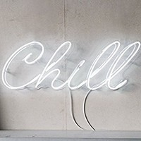 Chill Real Glass Neon Sign For Bedroom Garage Bar Man Cave Room Home Decor Handmade Artwork Visual Art Dimmable Wall Lighting Includes Dimmer