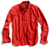 Red Solid Oxford Shirt
