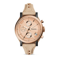 Original Boyfriend Chronograph Sand Leather Watch