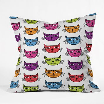 Andi Bird Cat Love Throw Pillow