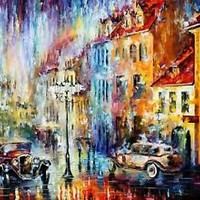 "LONG DAY — Palette Knife Oil Painting On Canvas By Leonid Afremov 48""x36"""