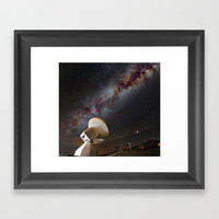 Contact! Search for ExtraTerrestrial Intelligence in the Stars! Framed Art Print by Guido Montañés