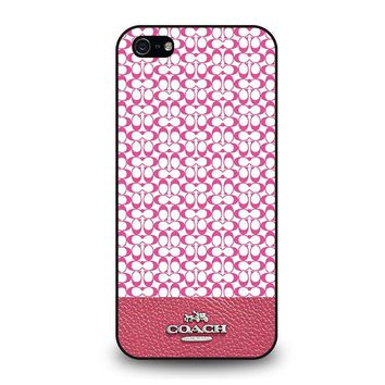 COACH NEW YORK PINK iPhone 5 / 5S / SE Case Cover