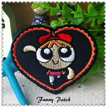 The Powerpuff Girls Heart Iron on Patch 249-H