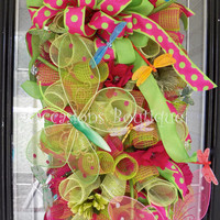 Spring Wreath, Summer Wreath, Door Swag, Large Wreath, Wreath for door, Door Hanger, Spring door swag, Ready to ship