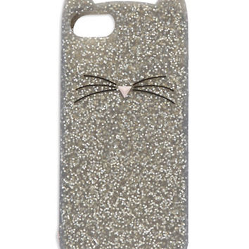 Kate Spade New York Glitter Cat Phone Case