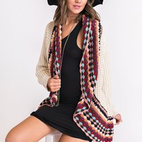 Justine Cable Knit Cardigan (Cream)